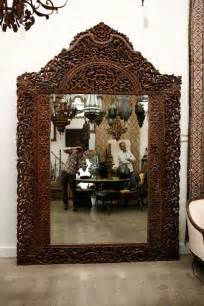 floor mirror india mirror 9 8 giant hand carved anglo indian at 1stdibs