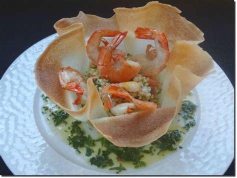 la cuisine de nelly panier de taboulé libanais gambas à la sauce vierge la