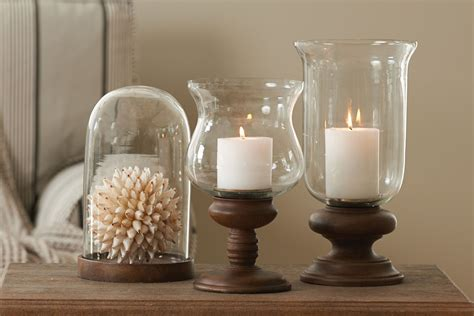 Wood And Glass Candle Holders by Wood Base Hurricane Candle Holder