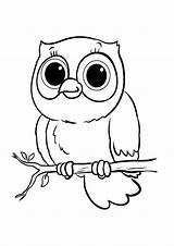 Owl Coloring Tulamama Owls Animal Drawing sketch template