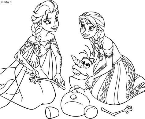 Kleurplaat Frozen by Kleurplaat Frozen De Mooiste Kleurplaten Milito Nl
