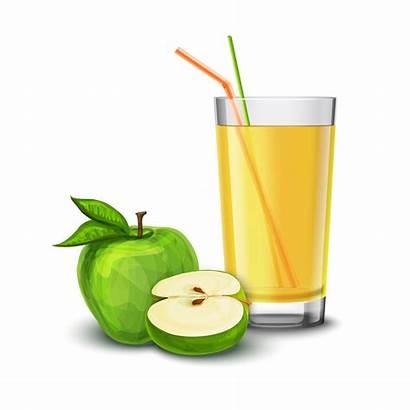 Juice Apple Vector Glass Illustration Background Clipart