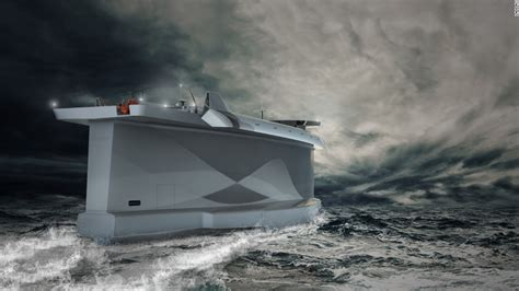 Side Of Boat Sheltered From Wind by Vindskip Cargo Ship Uses Its Hull As A Sail Cnn