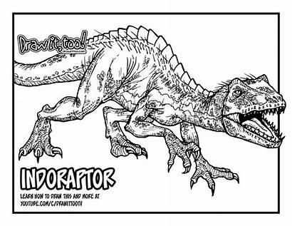 Jurassic Coloring Drawing Indoraptor Fallen Kingdom Pages