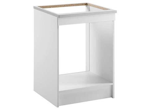 caisson cuisine conforama meuble bas 60 cm four plaque spoon shiny blanc conforama