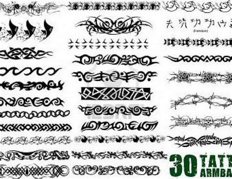 tribal armband tattoo stencils images  pinterest