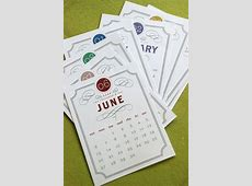VINTAGE Printable Desk Calendar 2017 2018 Digital Instant