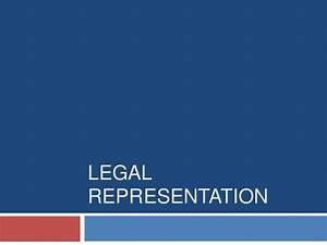 3.5 legal representation