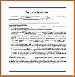 simple purchase agreement templateReference Letters Words