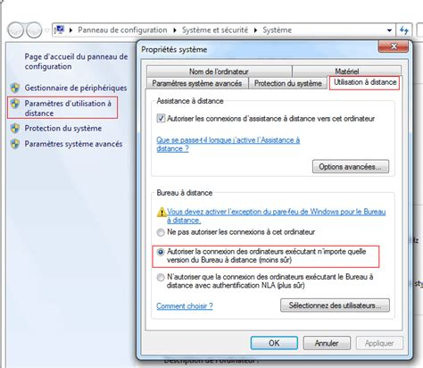 activer connexion bureau à distance windows 7 activer bureau a distance 28 images windows server