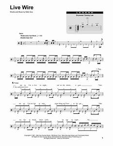 Live Wire Sheet Music By Motley Crue  Drums Transcription
