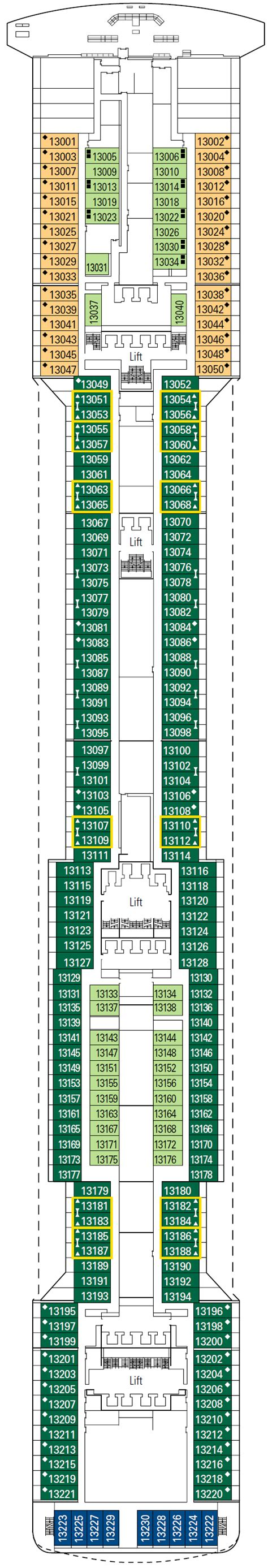 Msc Divina Deck Plan 11 by Msc Divina Cruises Great Deals On Cruises With Cruiseabout