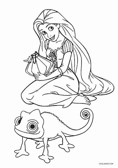 Coloring Pages Tangled Printable Pascal Sheets Printables