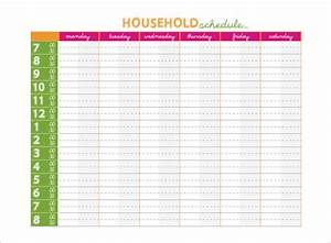 family schedule template schedule template free With kids weekly schedule template