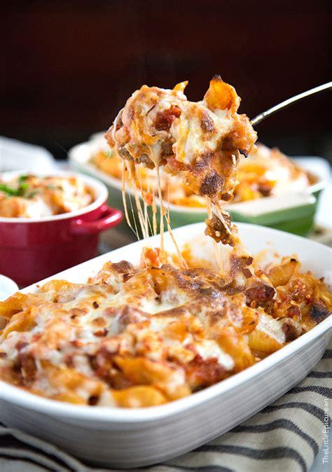 cheesy baked pasta  italian sausage   epicurean
