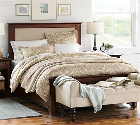 pottery barn bedding cynthia upholstered storage bed pottery barn