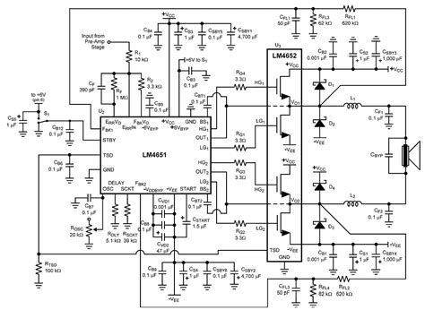 Class Amplifier Schematic Diagram