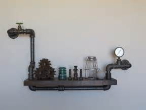 DIY Plumbing Pipe Shelves
