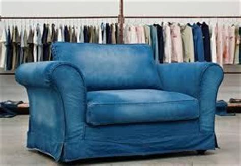 denim sofa chair and a half and chairs on