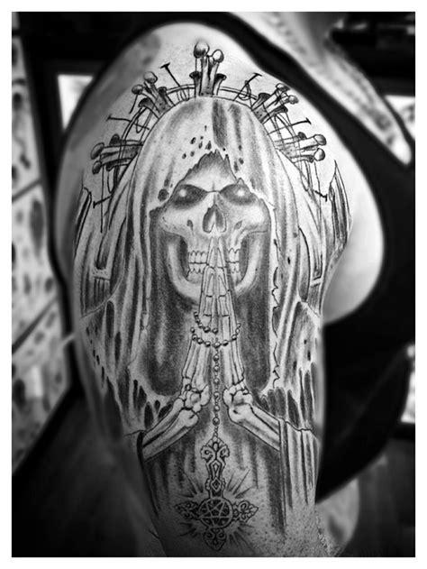 50 Drop Dead Gorgeous Santa Muerte Tattoos | Santa muerte