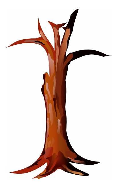 Trunk Tree Clip Clipart Cartoon Bark Vector