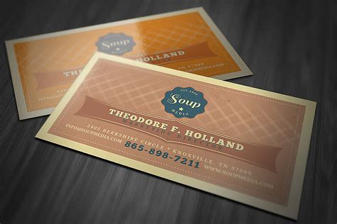 Retro Business Card Template Graphic By Jumbodesign