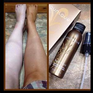 Younique Self Tanning Spray Applied To Legs Younique