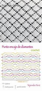 Crochet  Diagrama Del Punto Encaje De Diamantes