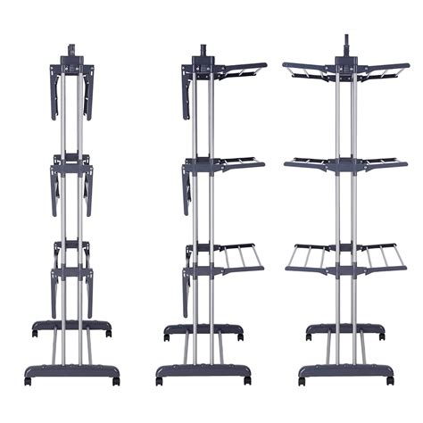 tripod laundry hanger 66 quot laundry clothes storage drying rack portable folding