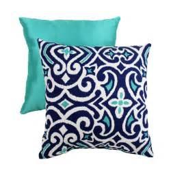 navy aqua and white pillow home decor