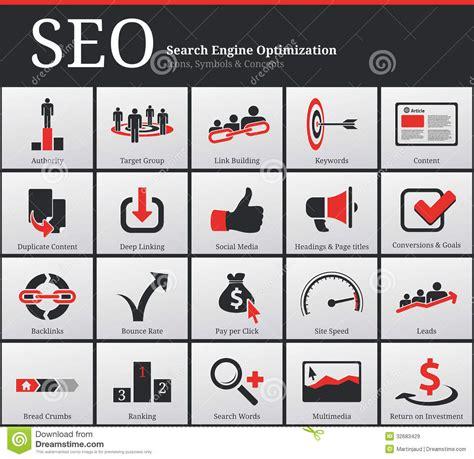 Seo Icons Symbols Stock Vector Image Ranking