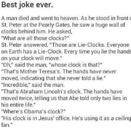 Clock Jokes 10 Obama Clock Joke Pmslweb