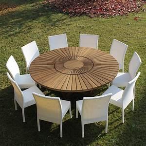 Table De Jardin Exterieur : table ronde jardin table exterieur design maisonjoffrois ~ Premium-room.com Idées de Décoration