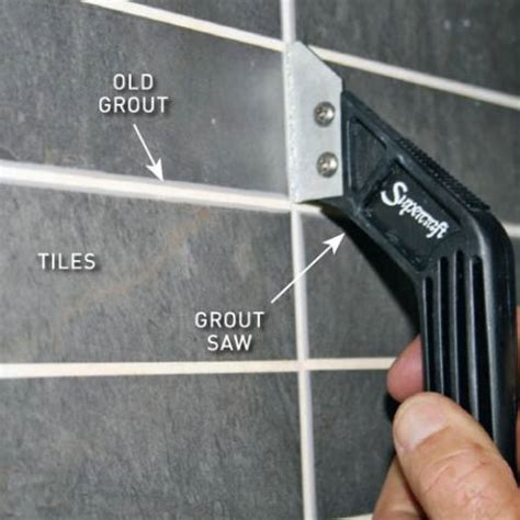 Removing Grout From Porcelain Tile by Regrout Tiles In 3 Easy Steps Australian Handyman Magazine