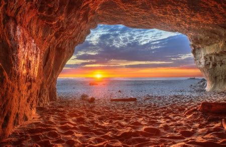 Beach cave in California - Sunsets & Nature Background ...