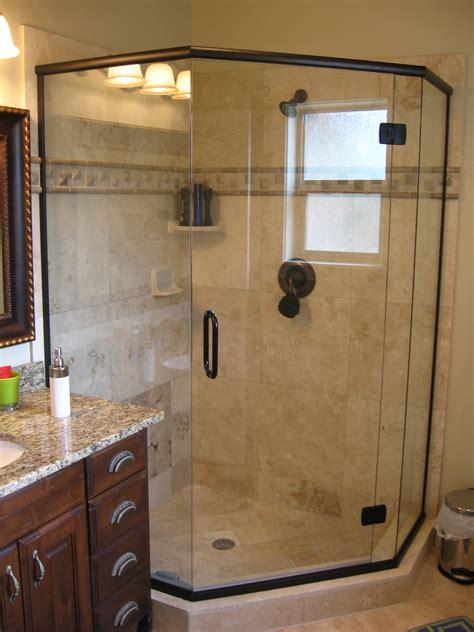 Frameless Neo Angle Shower Doors by European Frameless Shower Doors Vision Mirror And Shower