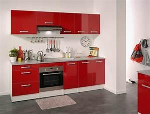 cuisine rouge et blanche 13 idees et conseils pour l39agencer With idee deco cuisine avec cuisine rouge et blanc