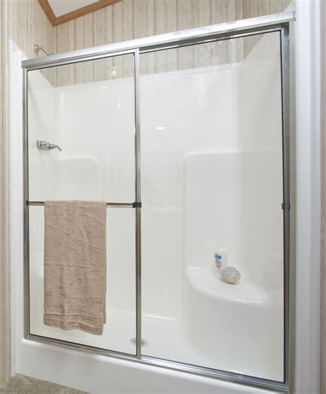 One Piece Shower Units With Seat, Shelves And Tub Ideas