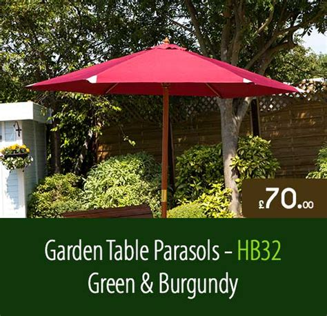 garden table parasols hb32 33 staffordshire fuel supplies