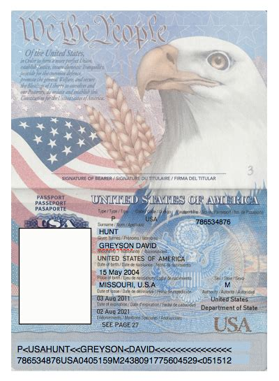 Us Passport Photo Template by Domesticated Nomad Passports