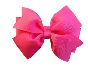 alligator for hair camelia hair bow pink bow 4 inch by