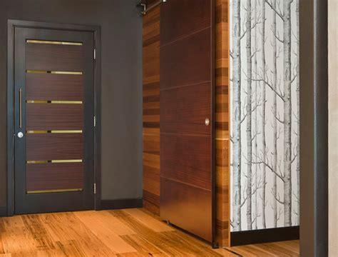 porte des chambres en bois modele porte en bois interieur deco maison moderne