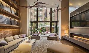 new townhouse modern industrial loft designs modern loft With interior decorators new york city