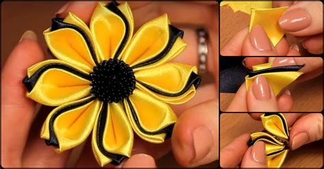 how to a flower how to make simple fabric kanzashi flowers