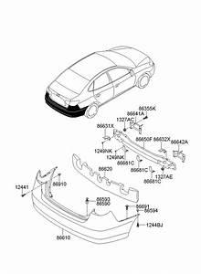 Hyundai Elantra Grommet - Screw