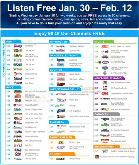 60 Free Sirius Xm Channels Starting January 30th! — Deals. Lap Band Surgery Success Top Software Company. How Much Cinnamon For Weight Loss. Online Stores That Accept Paypal Payments. Mobile Merchant Services Norwest Tree Experts. Education Degree Online Intel Code Of Conduct. Types Of Degrees College Is My Idea Patentable. San Antonio Cooking School Sep Self Employed. Nursing Care Management Farmers Market Storage
