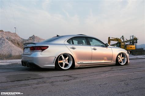 slammed lexus stance nations two amazing twin slammed vip ls460s club