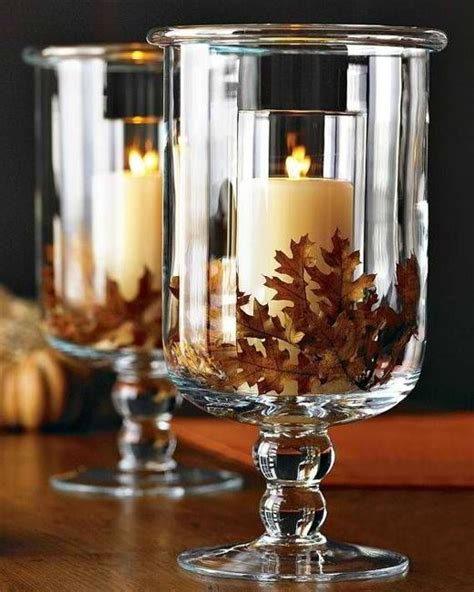 fall leaves  candles   pretty duo  decorating