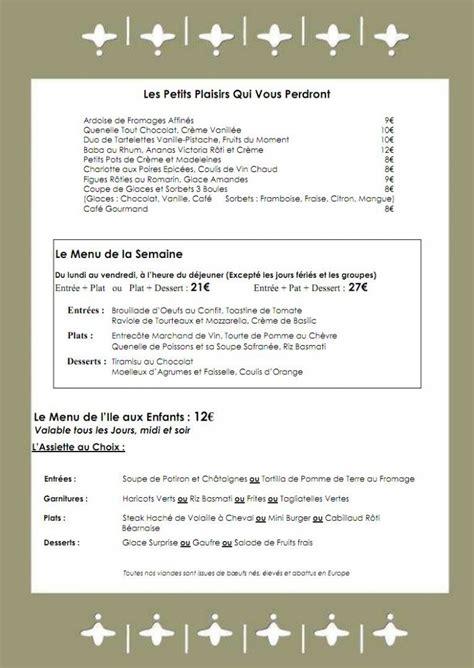 menu chalet des iles le chalet des iles 224 16 carte menu et photos