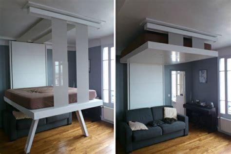 hauteur ilot central cuisine un lit escamotable plafond pratique et innovant